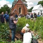 Gardeners listening intently