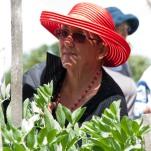 joan amongst the broad beans