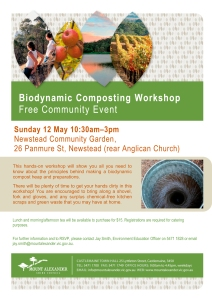 Flyer - Biodynamic Composting Workshop - 12 May 2013