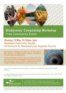 Flyer - Biodynamic Composting Workshop - 12 May 2013