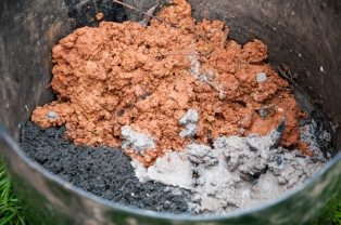 another way to activate biochar is to mix a slurry of clay or dirt, rockdust, wood ash ...