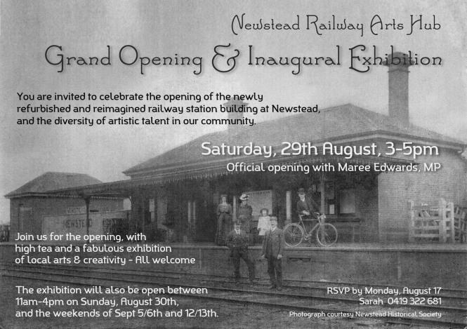 Newstead Arts Opening Flier