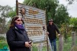 Newstead Community Garden - pizza oven workshop, signage unveil
