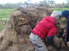 covering in final layer of straw