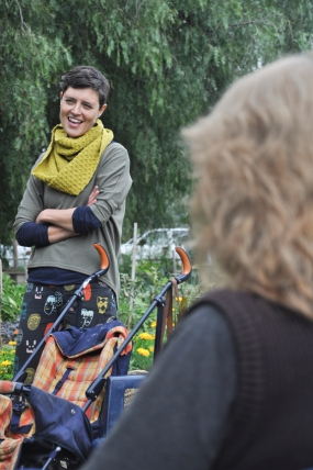 Cassia Read and Caroine Mclaren were our guest speakers for the garden's seventh birthday.